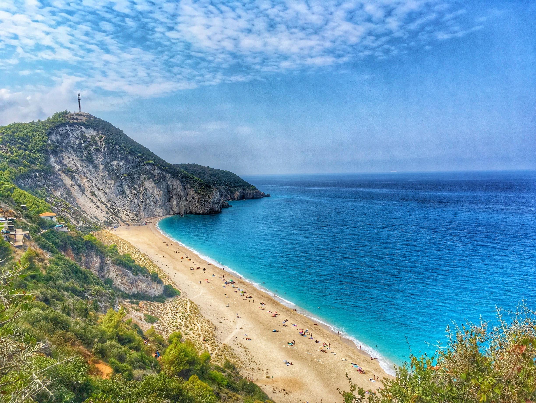 Praia de Milos, Lefkada, Região das Ilhas Jônicas, Grécia