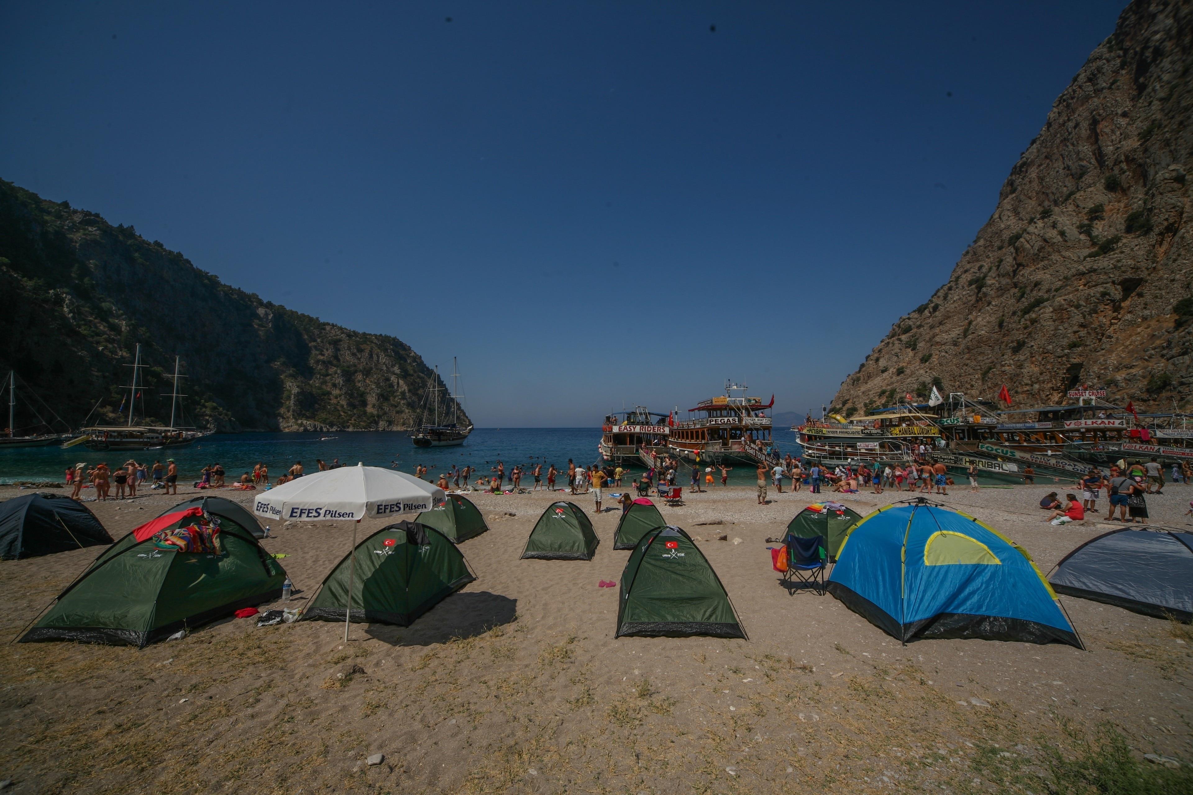Butterfly Valley Beach, Fethiye, Muğla, Türkei