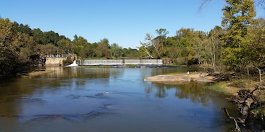 The Neuse River trail passes this dam in East Raleigh. It's a nice spot to fish or have a picnic