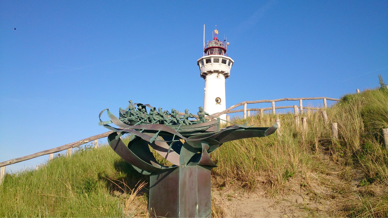 Leuchtturm J.C.J. van Speijk, Egmond aan Zee, Nordholland, Niederlande