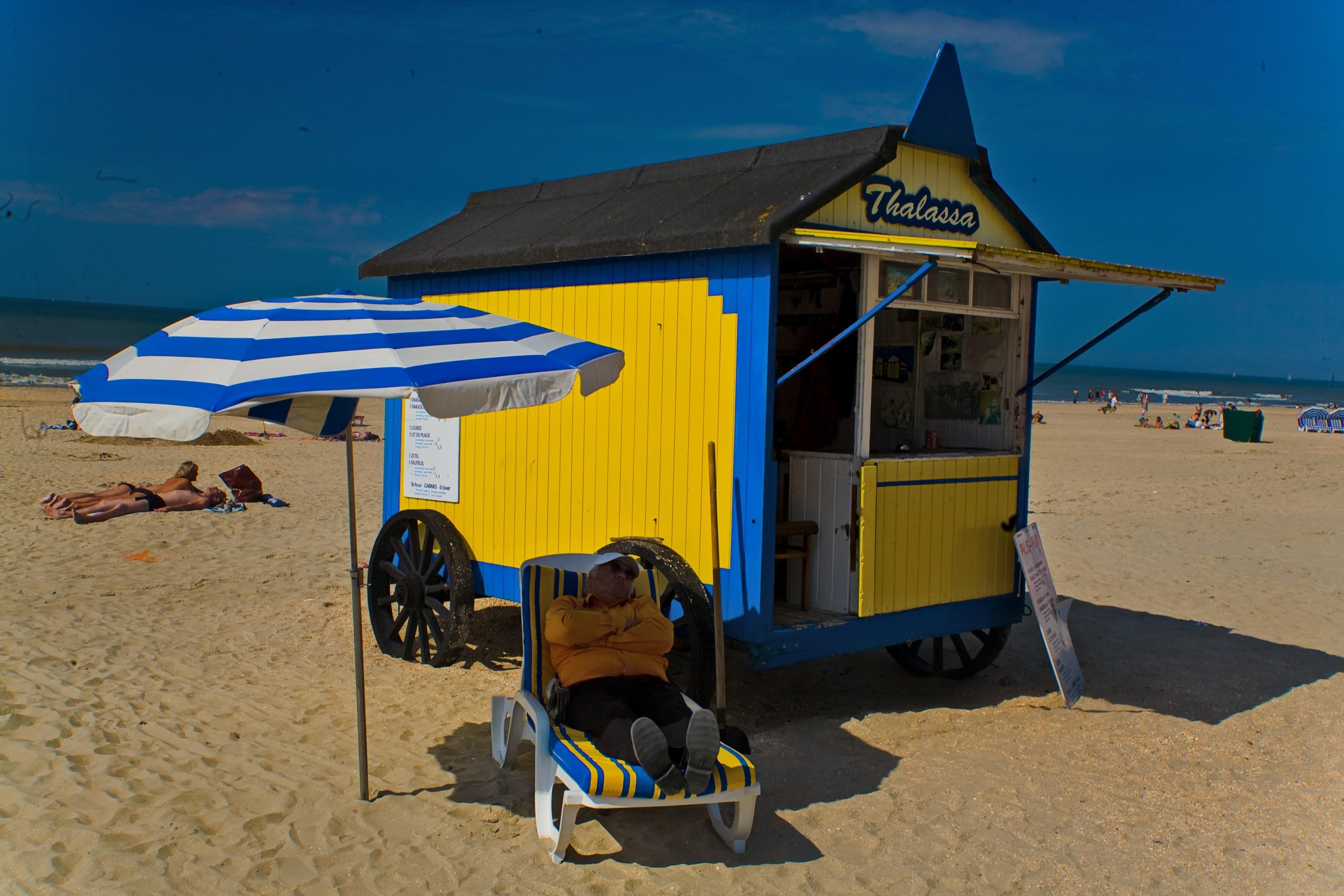 De Panne Beach, De Panne, Flemish Region, Belgium