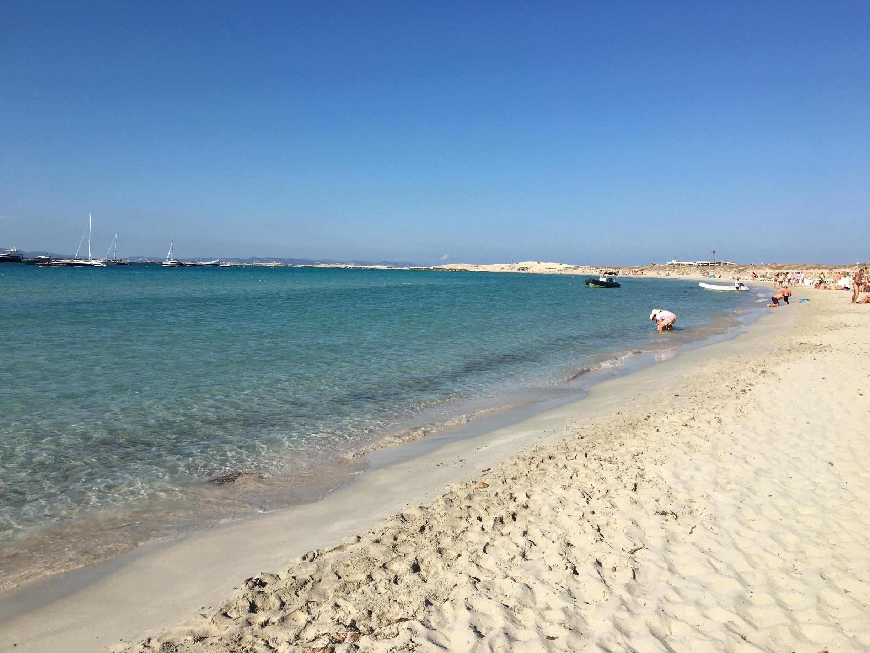 Ses Illetes-stranden, Formentera, Balearene, Spania