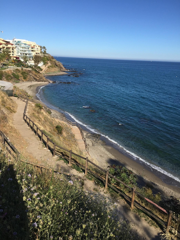 Playa de Las Yucas, Benalmádena, Andalusien, Spanien