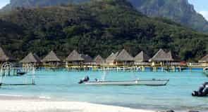 Strand des Matira-Hotels