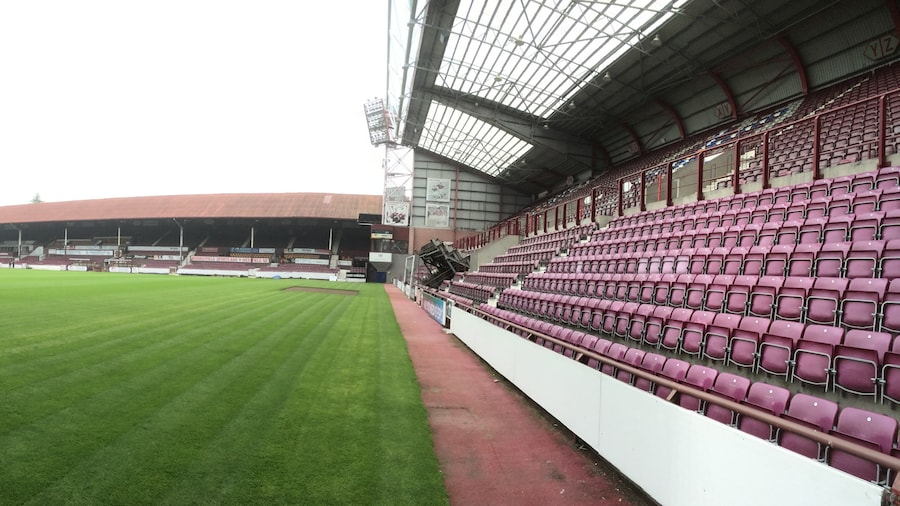 """Photo """"Panorama of Tynecastle Stadium"""" by undefined (Creative Commons Zero, Public Domain Dedication) / Cropped from original"""