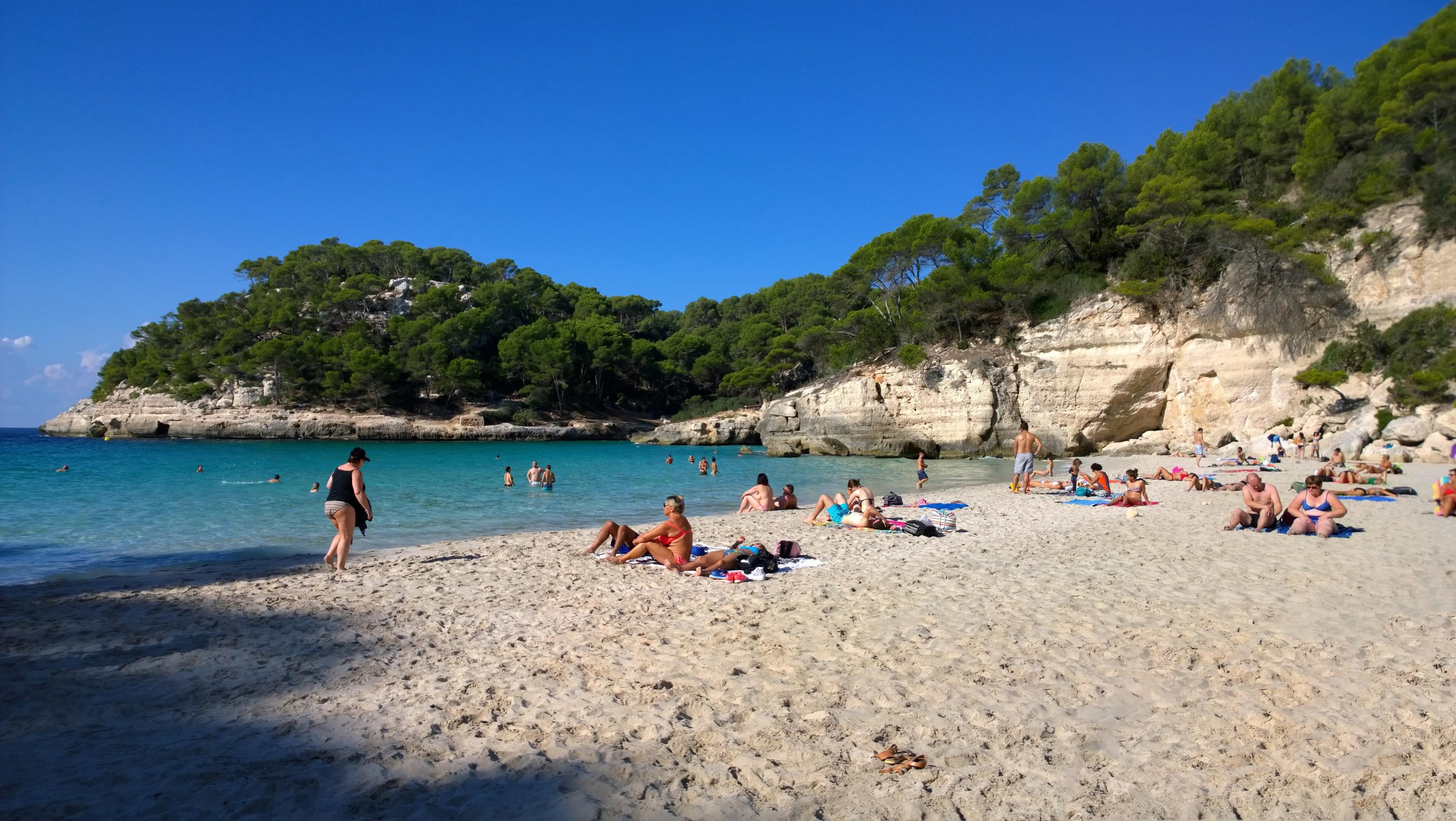 Cala Mitjana Beach, Ferreries, Balearic Islands, Spain