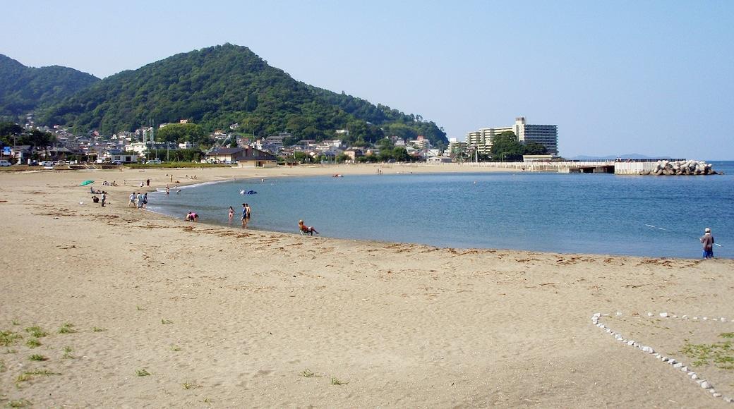Nagahama Beach in Atami City, Shizuoka Prefecture, Japan.