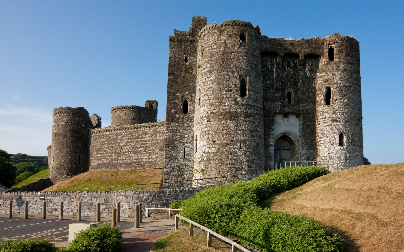 Kidwelly Castle, Kidwelly, Wales, Verenigd Koninkrijk