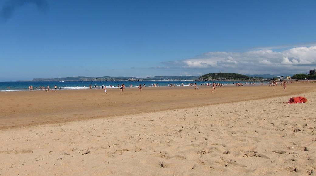 """Foto """"Playa Primera de El Sardinero"""" de Carlos Cunha (CC BY-SA) / Recortada de la original"""