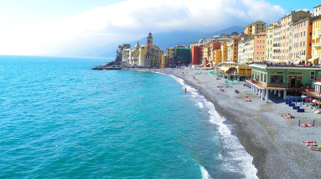 """""""Camogli-stranden""""-foto av Mister No (CC BY) / Urklipp från original"""
