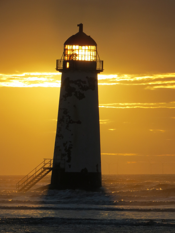 Talacre Lighthouse, Holywell, Wales, United Kingdom