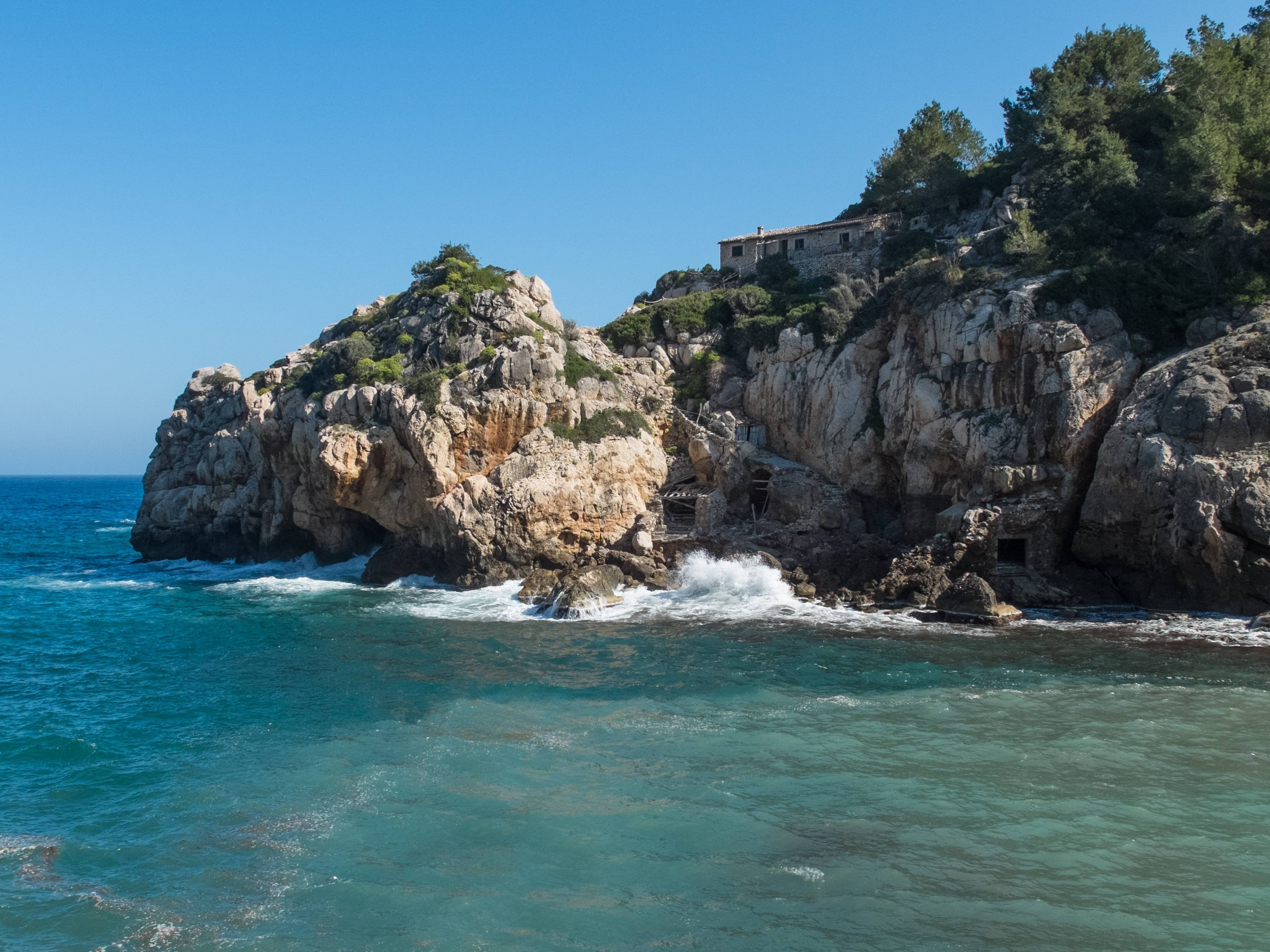 Cala Deià, Deià, Balearen, Spanien