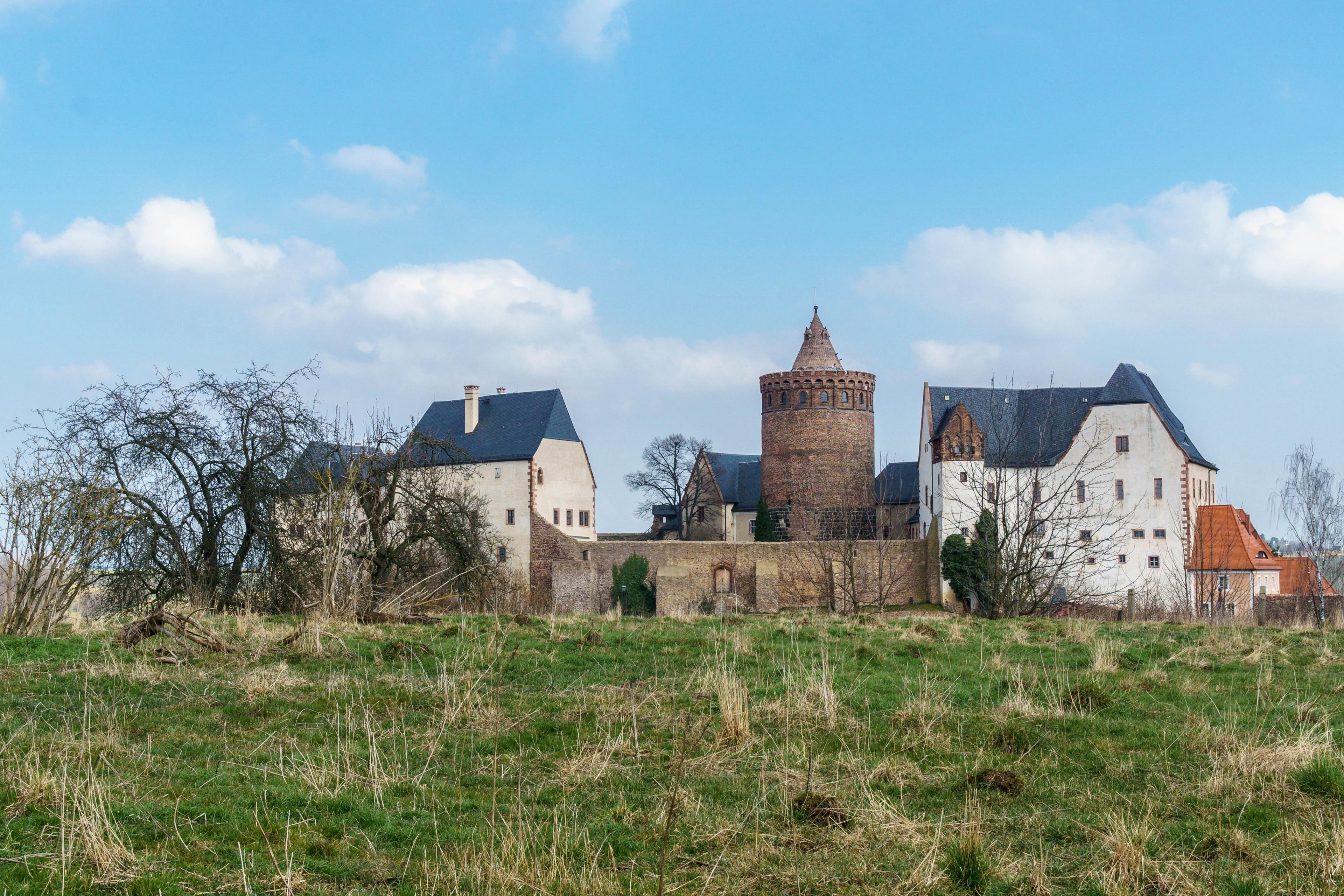 Kasteel Mildenstein, Leisnig, Saksen, Duitsland