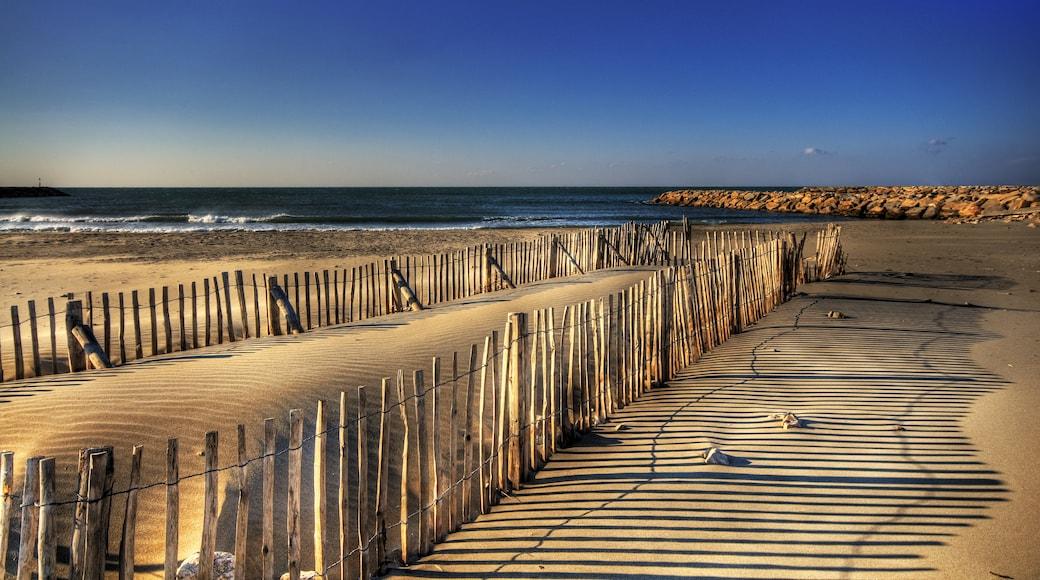 """Foto """"Strand von Saintes-Maries-de-la-Mer"""" von Wolfgang Staudt (CC BY)/zugeschnittenes Original"""