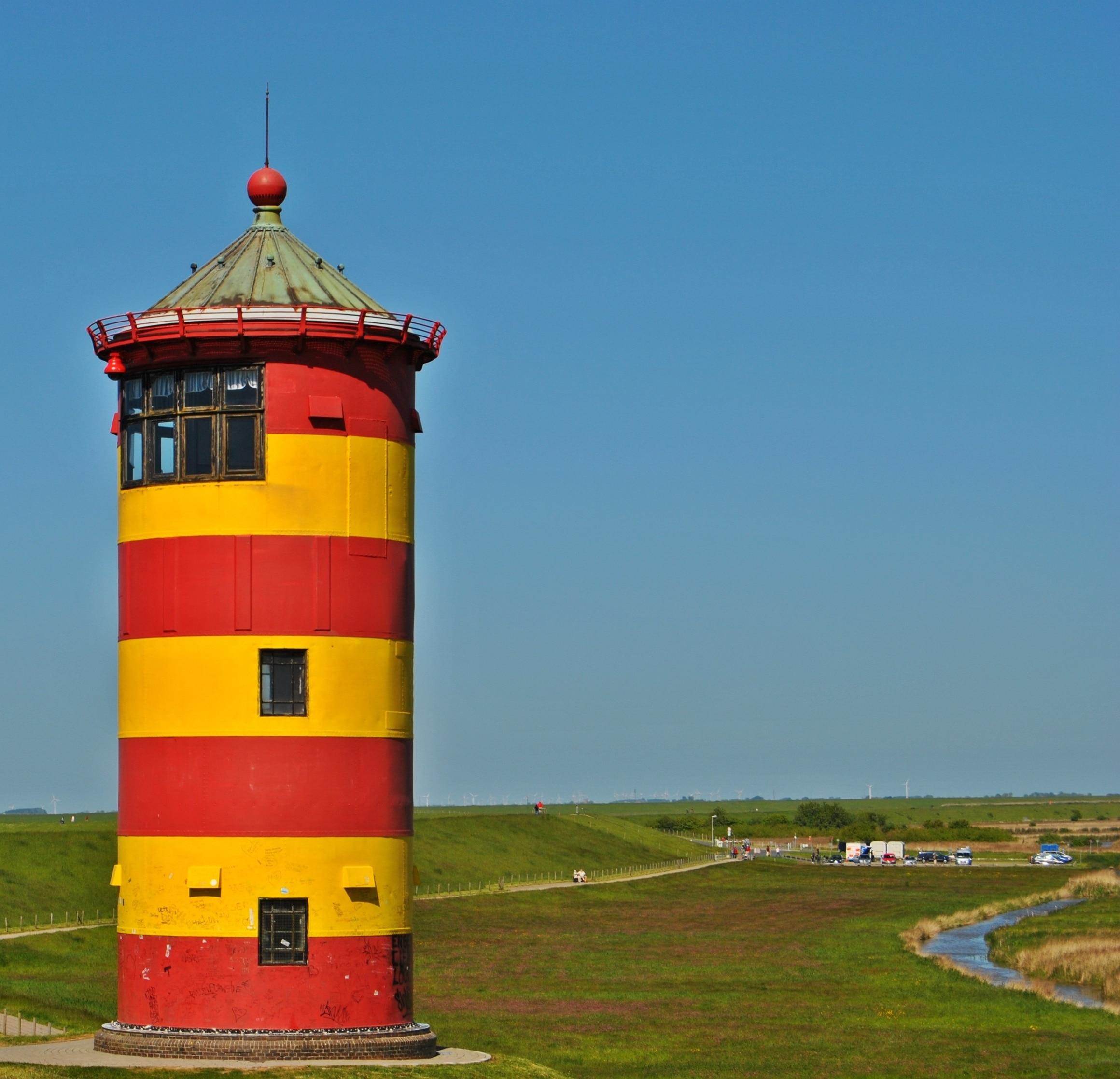 Pilsumer Leuchtturm, Krummhörn, Niedersachsen, Deutschland