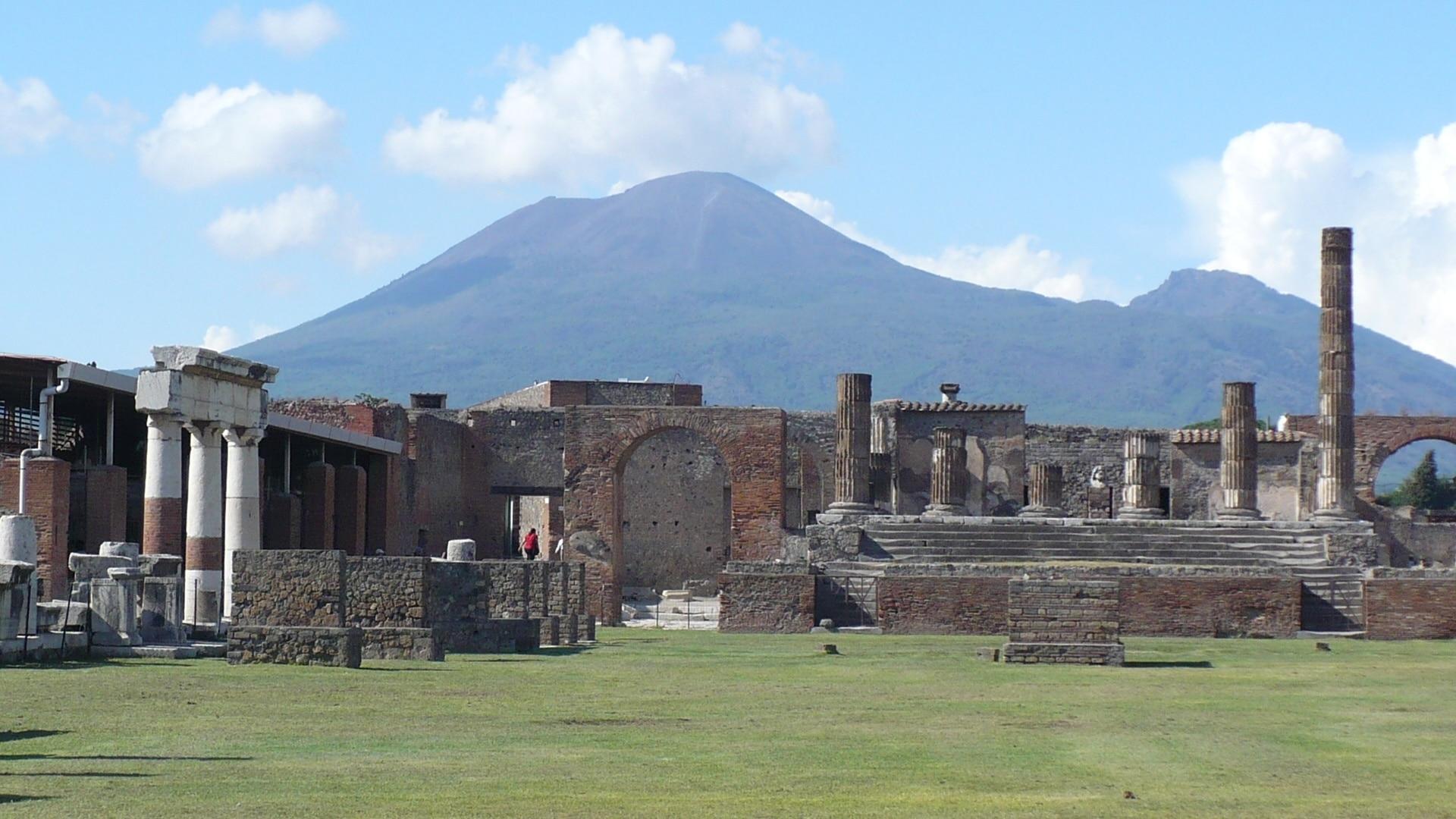 Pompeii Forum, Pompei, Campania, Italy