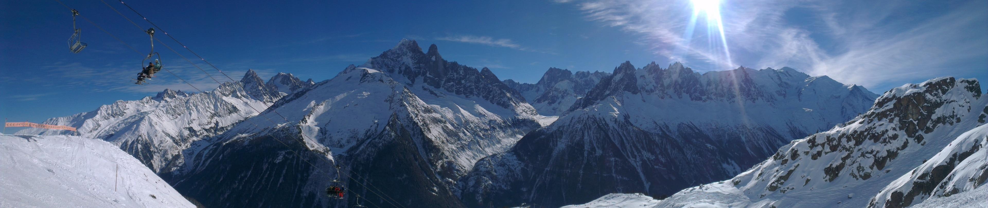 Skigebiet Brévent-Flégère, Chamonix, Haute-Savoie (Département), Frankreich