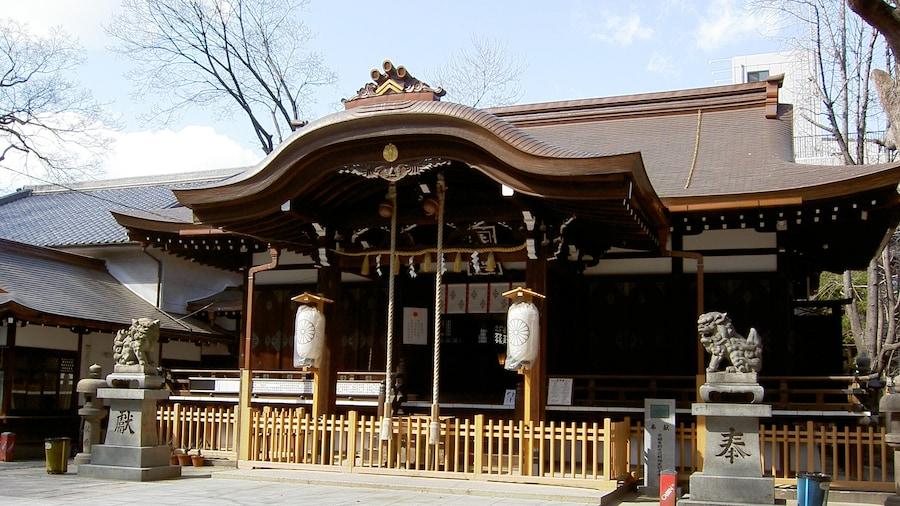 "Photo ""Miyukimori tenjingu Haiden. 3-10-5, Momodani, Ikuno-ku, Osaka-shi, Osaka Japan."" by Nisiguti (Creative Commons Attribution-Share Alike 3.0) / Cropped from original"