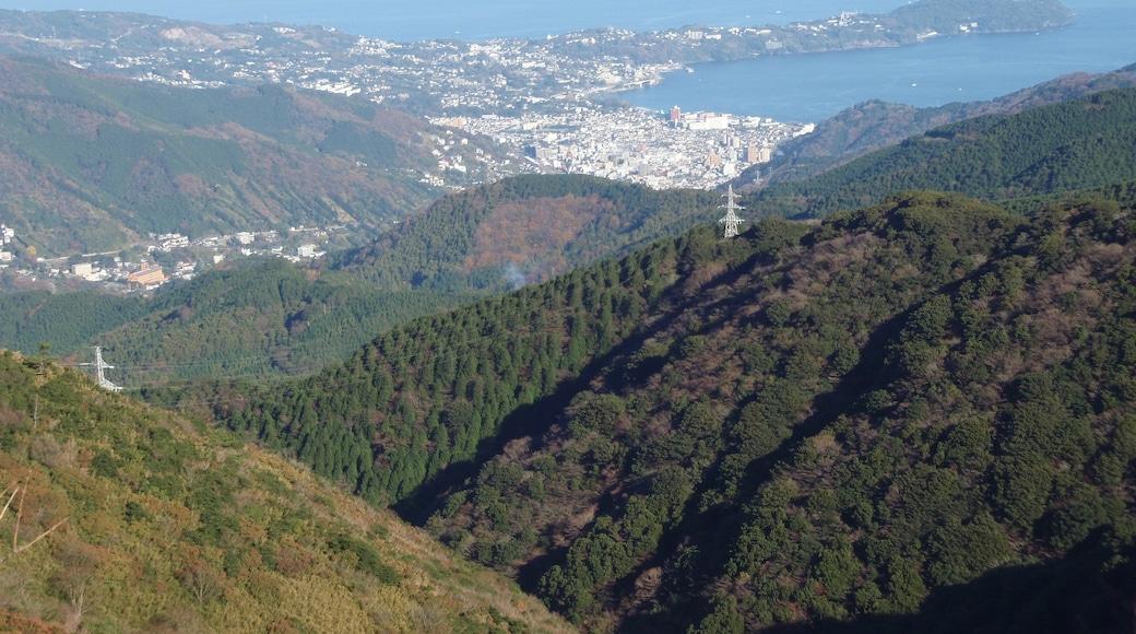 Manazuru town and Yugawara town. View from Jukkoku Pass in Shizuoka prefecture, Japan.