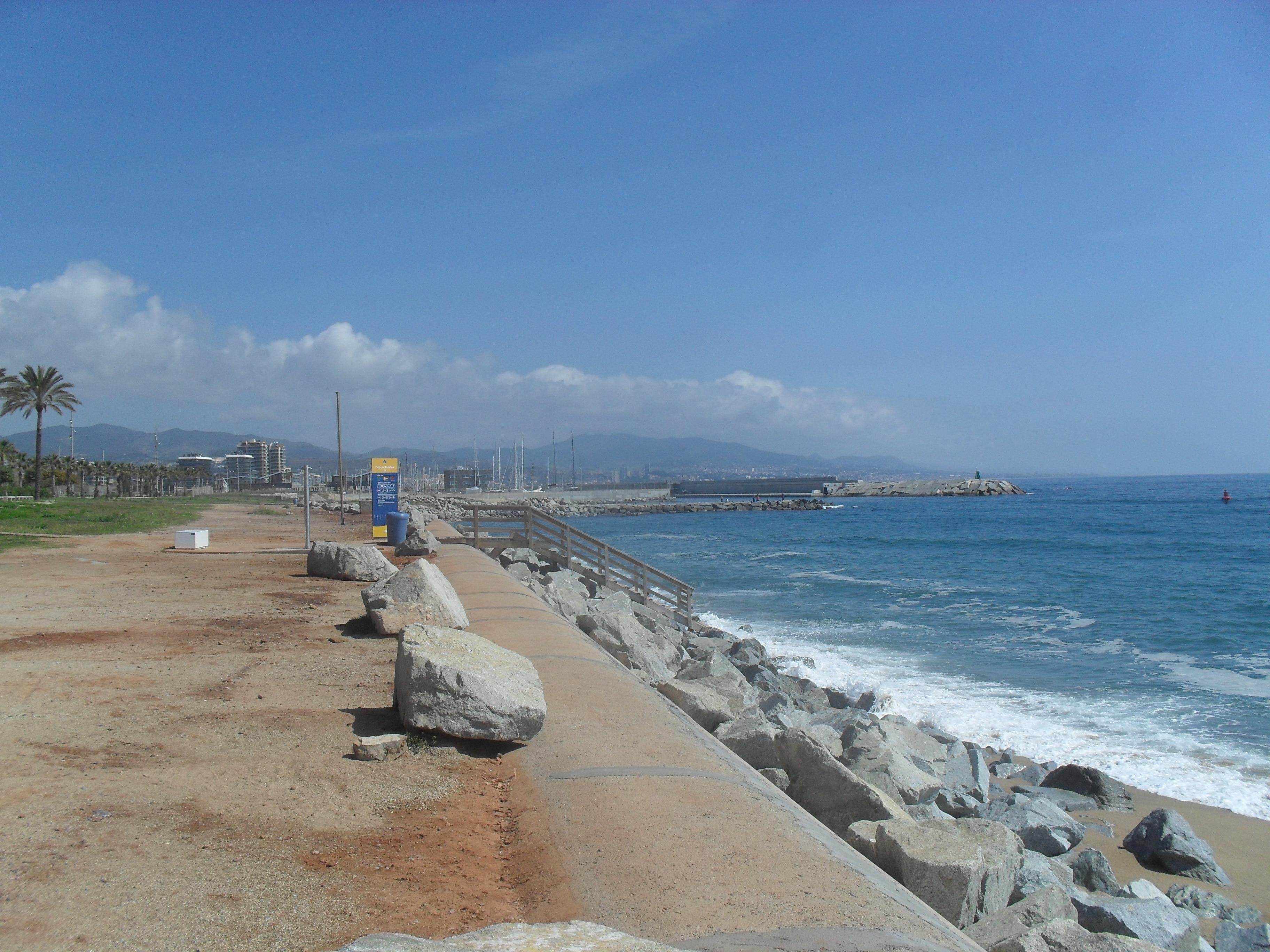 La Mora Beach, Badalona, Catalonia, Spain