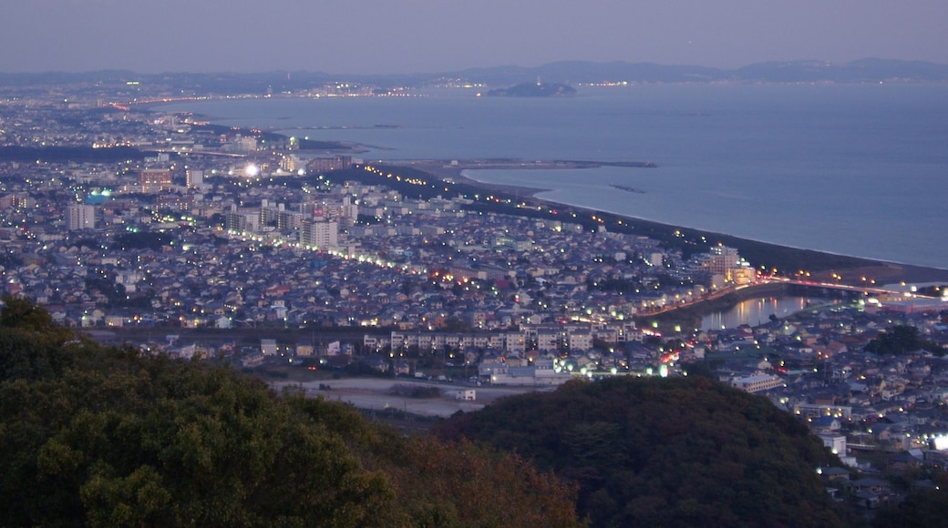 The spectacle in the evening which desires the direction of Enoshima from Shonandaira