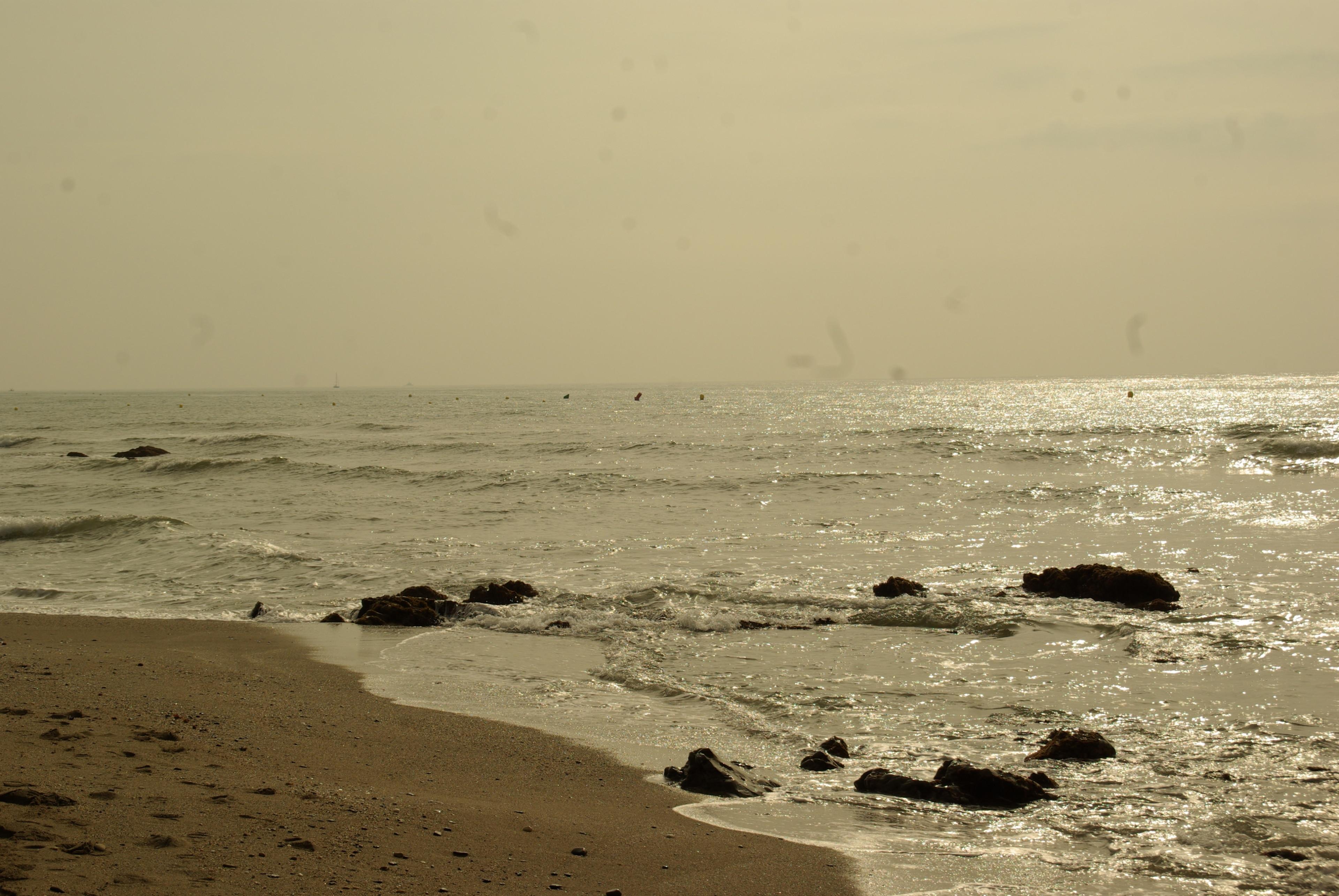 La Luna Beach, Mijas, Andalusien, Spanien