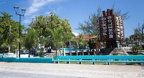 Marktplatz von Puerto Morelos