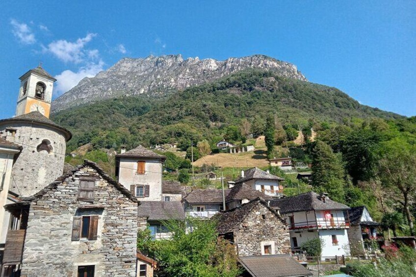 Verzasca valley, river and waterfall + Locarno private guided tour, from Lugano