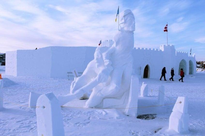 Ice Castle on Yellowknife Bay