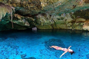 Swimming in the best 2 Cenotes & Private Lagoon kayaking in Tulum area + Lu...