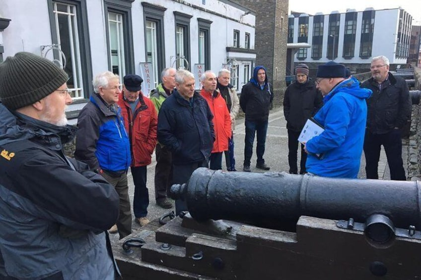 Show item 3 of 13. Cannons near Shipquay Gate