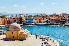 West Crete Day Tour: Chania, Rethymno, Lake Kournas - from Heraklion region