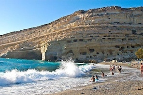 Private Tour to South Crete: Ancient Gortyn, Monasteries and Matala Beach