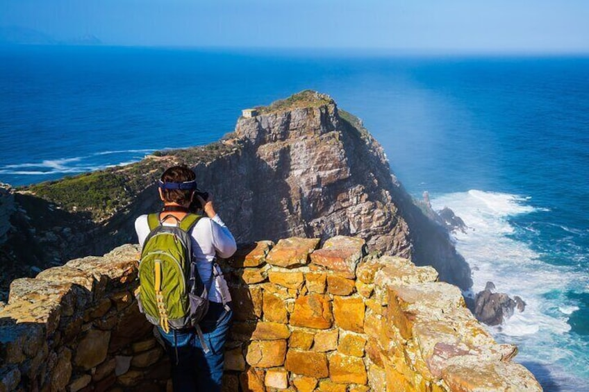 Cape Point viewing site on our guided tour to the Cape of Good Hope