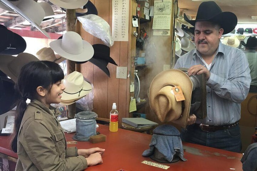 Fincher's Whitefront, custom hat fitting