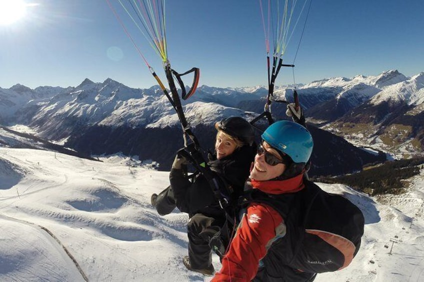 Show item 4 of 11. Davos Paragliding Private Tandem Pilot Half Day