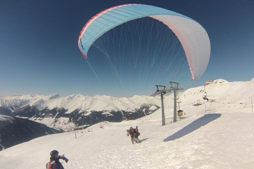 Show item 3 of 11. Davos Paragliding Private Tandem Pilot Half Day