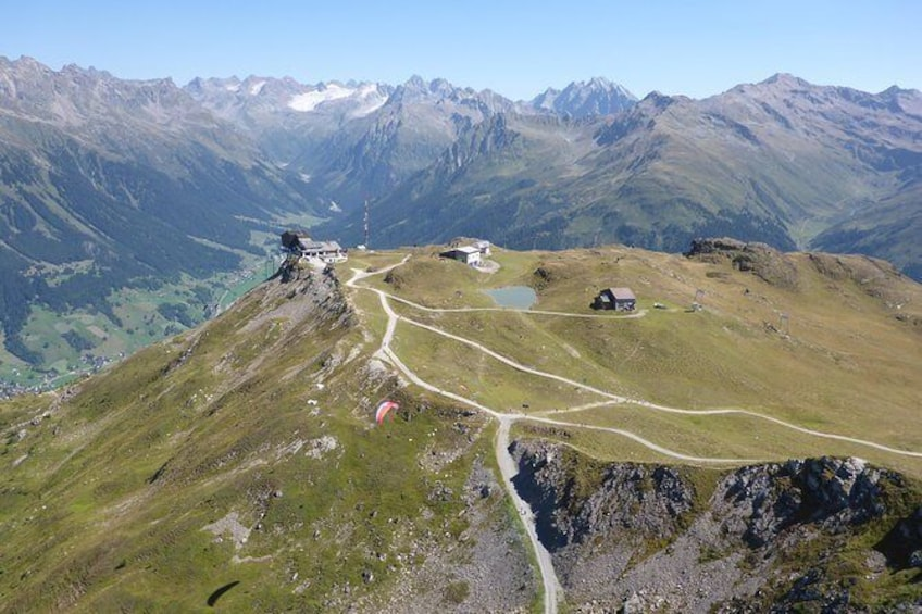 Show item 3 of 11. Klosters Tandem Paragliding Flight from Gotschna