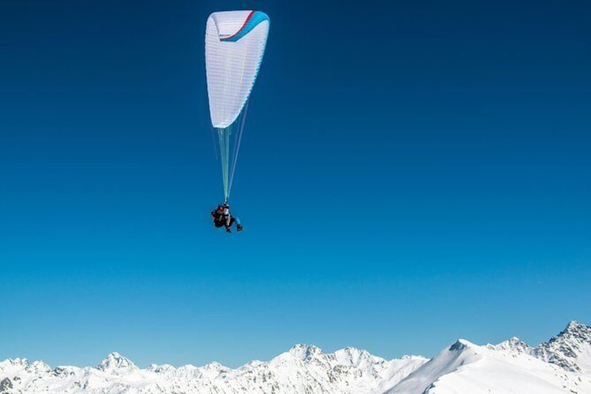 Show item 4 of 11. Klosters Tandem Paragliding Flight from Gotschna