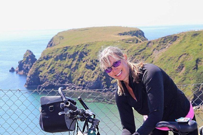 Kathy at the Sliver Strand