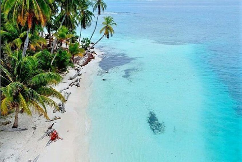 Show item 5 of 19. Pristine beach in San Blas with crystal clear water
