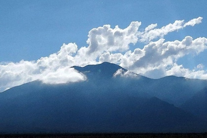 Taos Mountain, your stunning background.