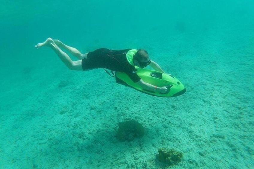Show item 1 of 11. Antilla Shipwreck Seabob Tour