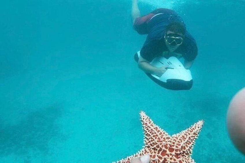 Show item 3 of 11. Antilla Shipwreck Seabob Tour