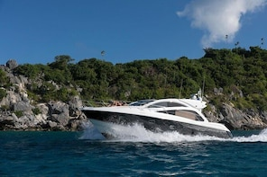 Full Day Private Luxury Yacht Charter in USVI and BVI on our 53' Sunseeker