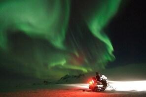Northern Lights Snowmobiling Experience on Langjökull Glacier from Gullfoss