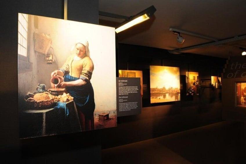 All 37 paintings (reproductions) of Vermeer in one room.