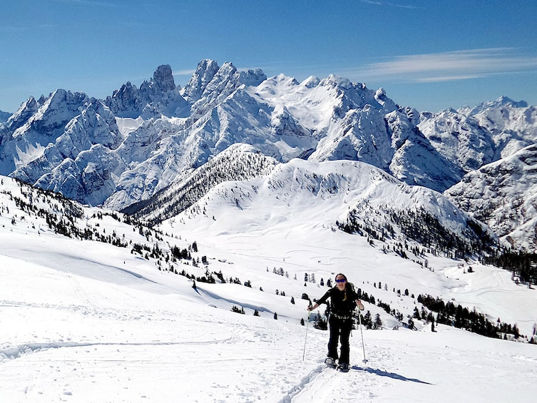 Show item 1 of 6. Snowshoe Tour in the Dolomites near Cortina (1 day)