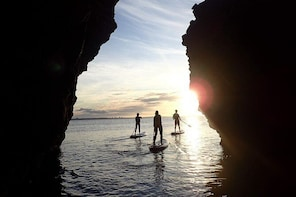Stand Up Paddle Sunrise tour grottos in Lagos - pick up Lagos area