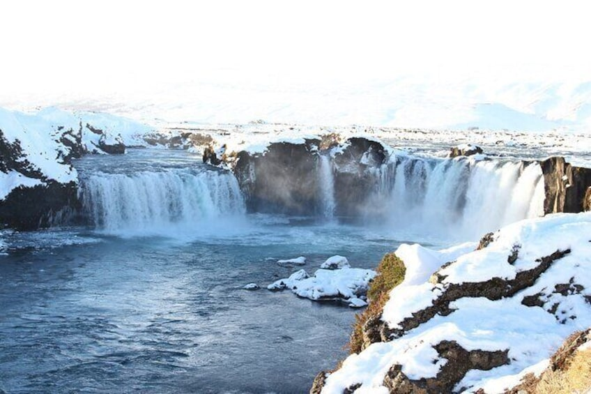 Show item 2 of 3. Goðafoss- Waterfall of the Gods Tour from Akureyri